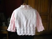GILET ROSE TOUT DOUX au tricot