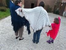 3 Générations de CHALE au tricot