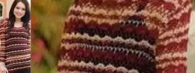 Crochet un pull bicolore