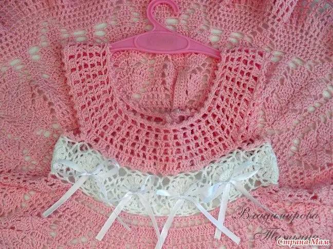 Une très belle robe au crochet