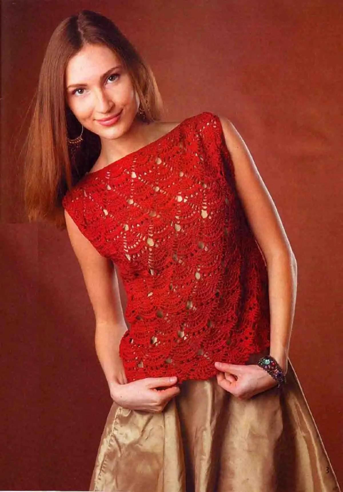 Crochet un pull sans manche