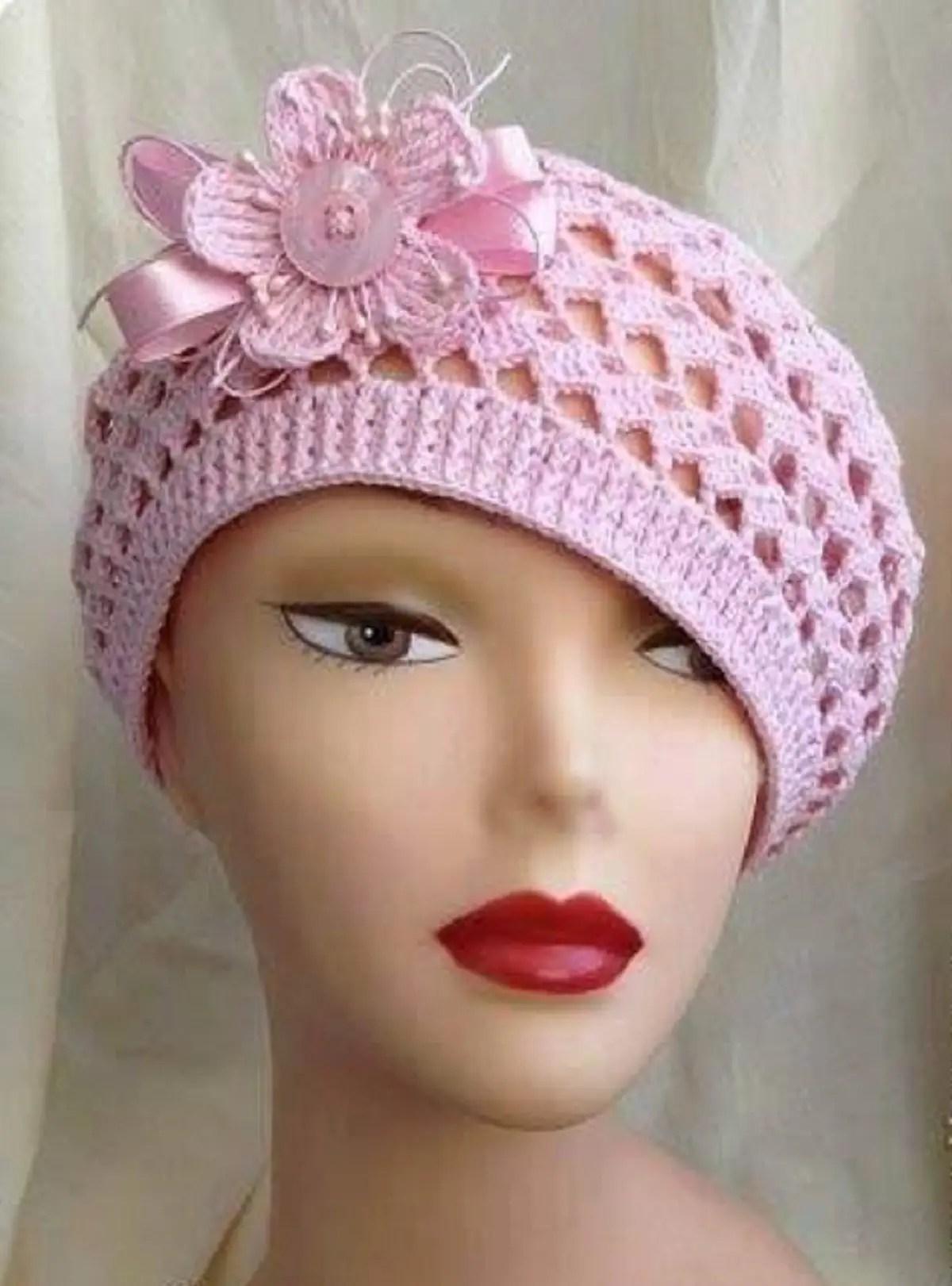 Bonnet au crochet façon vintage (1)