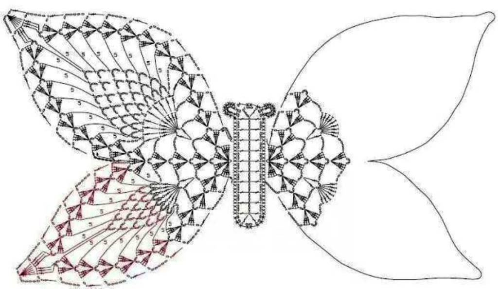 papillon -2- lagrenouilletricote.com