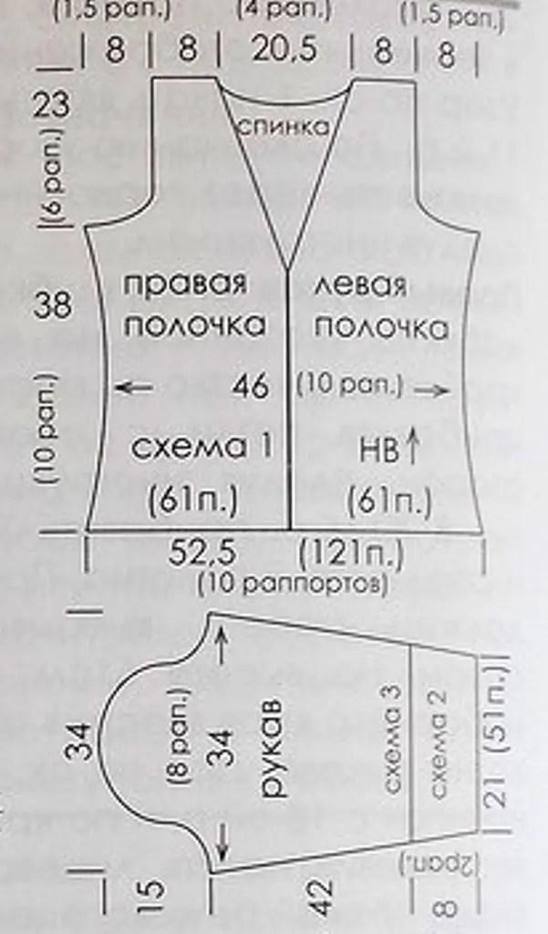 au crochet une veste grande taille