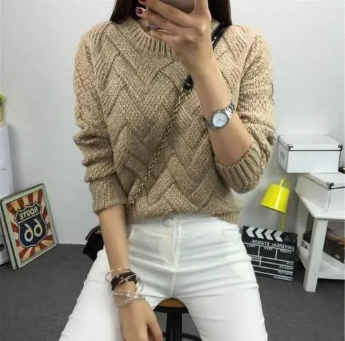 Un pull simple et beau au tricot