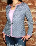 Une veste magnifique avec un motif simple au crochet