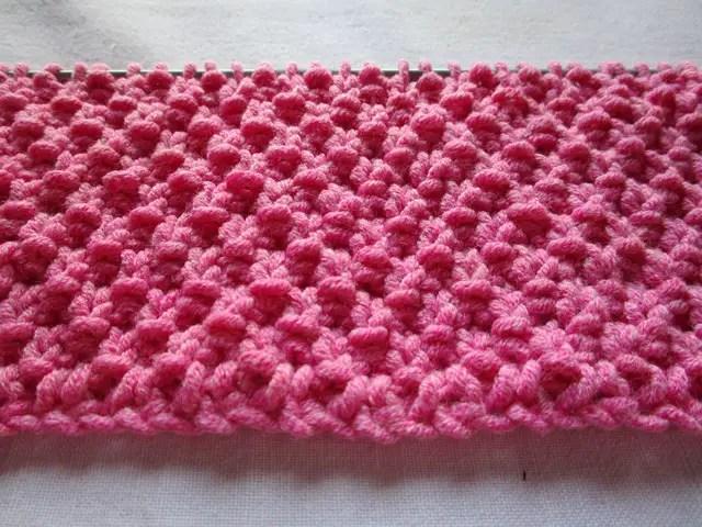 au tricot le point de riz double - La Grenouille Tricote