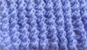 Un Point de côte ajourée au tricot