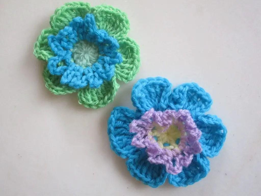 fleurs au crochet 1ere partie en vidéo