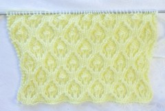 au tricot au point de feuille en relief en pas à pas