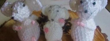 les souris du traîneau du Père Noël