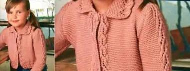un gilet au tricot pour nos princesses