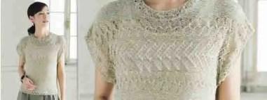 Un débardeur délicat au tricot