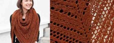 Drops design crochet shawl