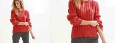 Modèle de pull à tricoter avec explication
