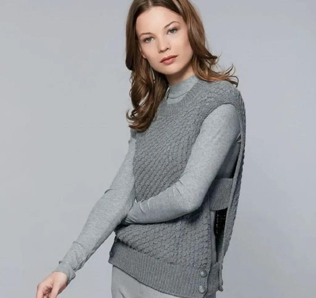 Tricoter un pull sans manches facile