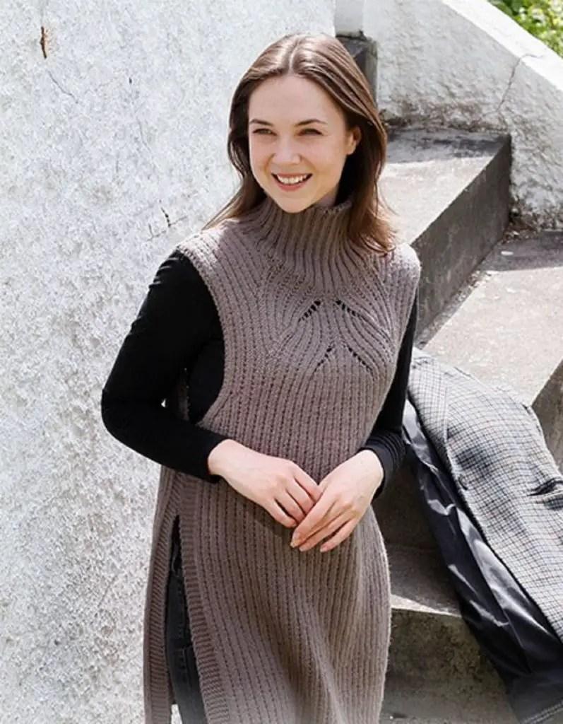 La robe pull bear facile au tricot