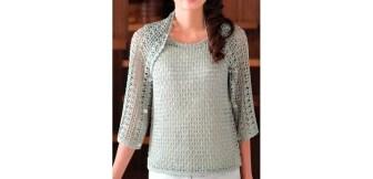 Ensemble-pull-bolero-tricot-crochet