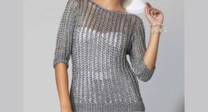 Modèle de pull au tricot été