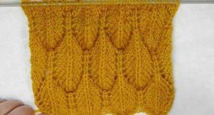 Point plume au tricot facile