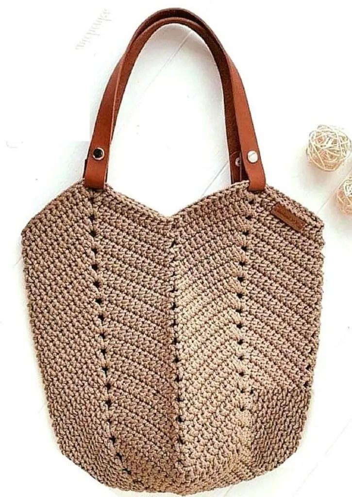 Une idée de sac au crochet pour l'été