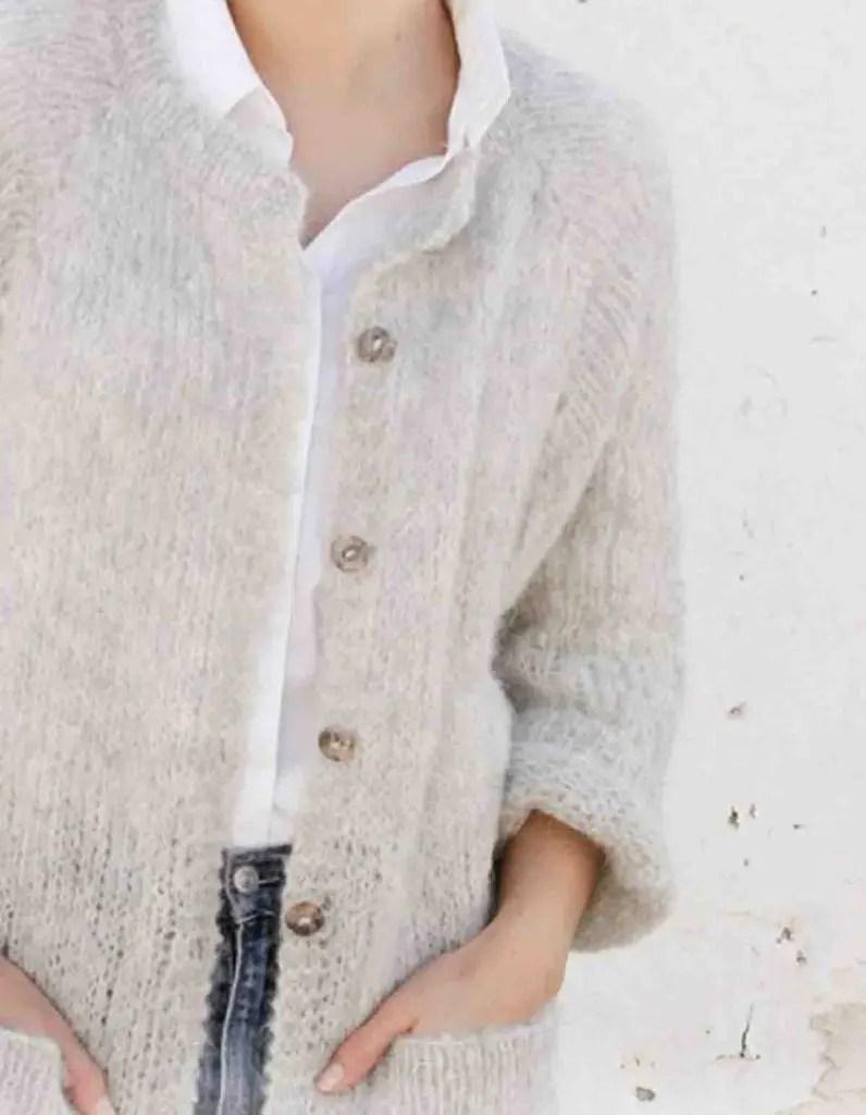 Veste au tricot facile femme