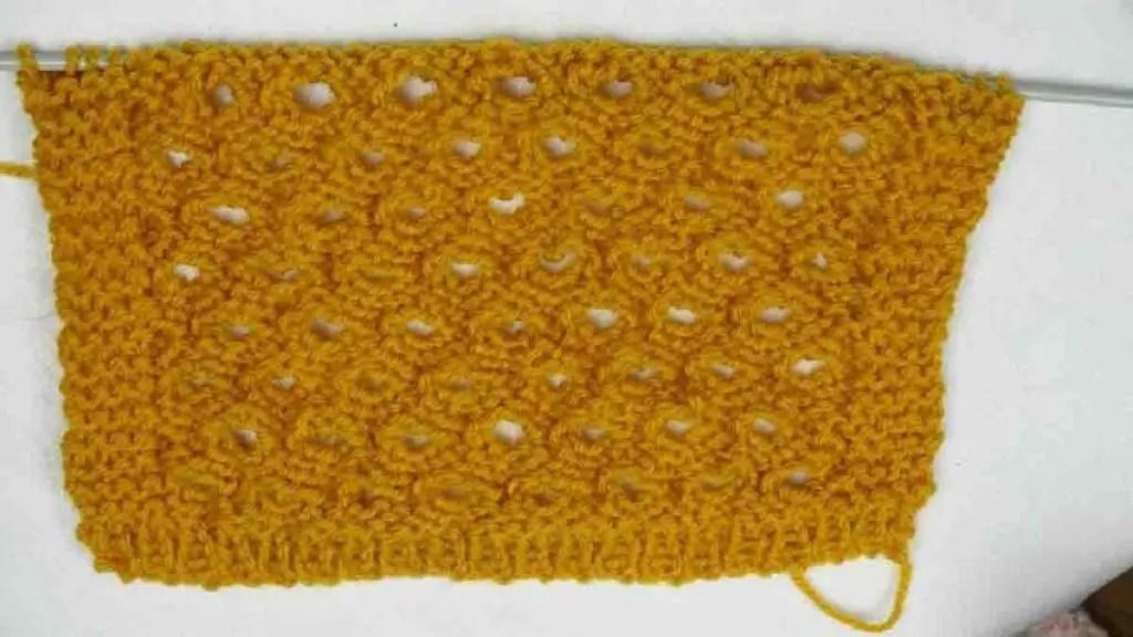 Un joli point pour une écharpe