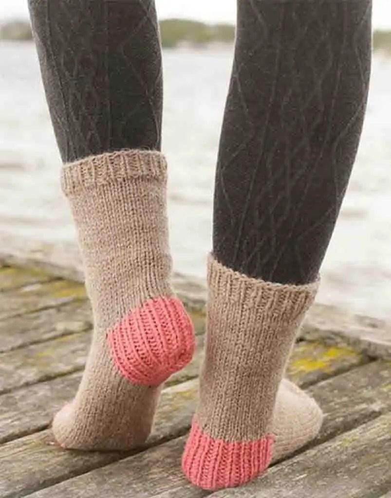 Chaussettes femme au tricot