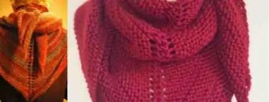Châle en laine tricoté main
