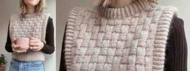 Pull sans manche tricot facile