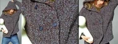 Tricoter gilet à capuche femme