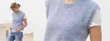 Tricoter un pull sans manche pour femme