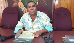 En la mesa directiva de la corporación solo se encontraba el presidente Aloima Miranda Arregoces.