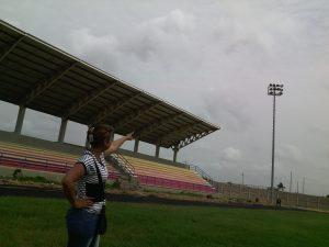 Aspecto del estadio de la ciudad de Maicao.