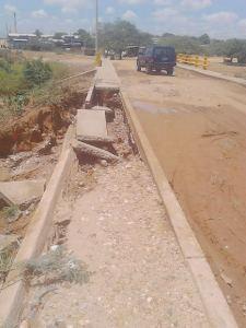 Así se ve actualmente el puente que fue inaugurado en el gobierno pasado