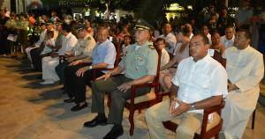 Durante la ceremonia de celebración de los 125 años de la Policía Nacional.