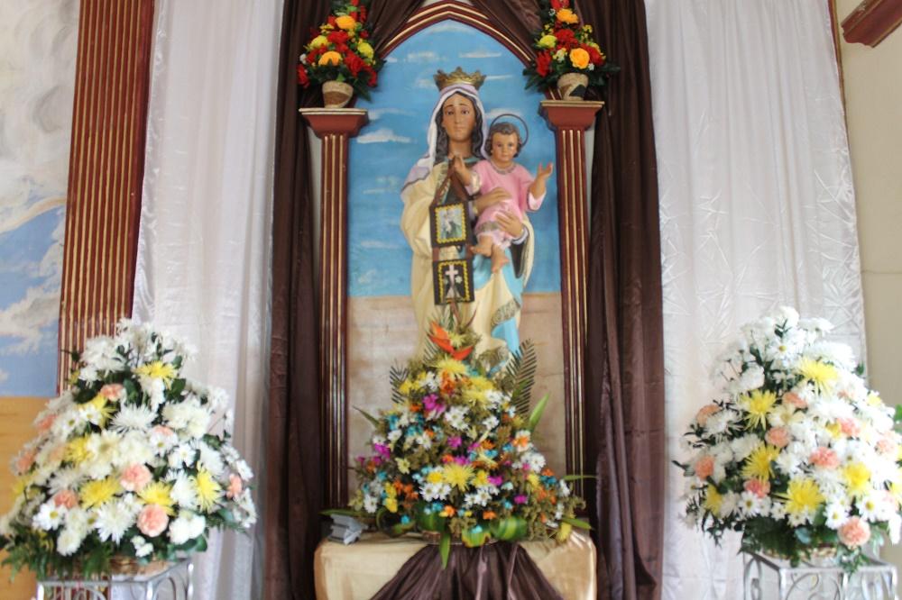 Católicos celebraron a la Virgen del Carmen