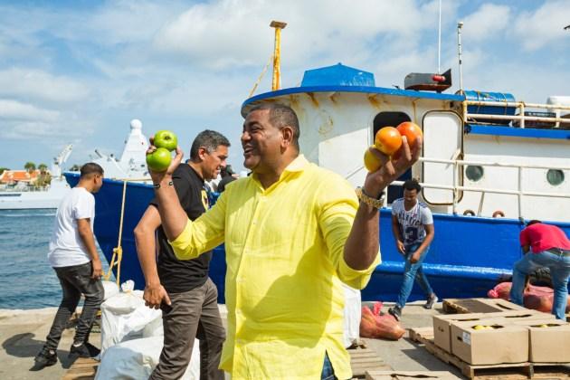 Feliz se encontraba Wilson Rojas, de ver que su sueño se hizo realidad, reactivar las exportaciones desde La Guajira para Curazao.