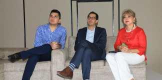 Ministro de Vivienda, Jonathan Malagón; viceministro de Agua, José Luis Acero; y presidenta de Acodal, Mary Luz Mejía. Fotografía: René Valenzuela. MVCT.
