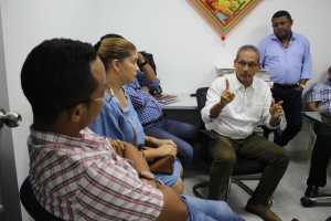 El alcalde Juan Carlos Suaza Movil, con el gerente de Asaa, William García, sostuvieron una importante reunión con el Coordinador de SGP del viceministerio de Agua Potable y Saneamiento Básico, Oscar Javier Ramírez.