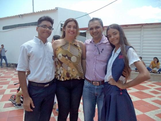 Eduardo Daza, Zenilma Patiño, Eduardo José y Lucía Daza Patiño.