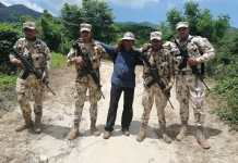 Miembros del Ejército Nacional fueron los primeros de las autoridades en encontrar al docente que había sido secuestrado.