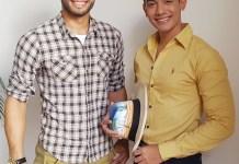 Cristian Alexander Pana Uriana, de Uribia y José Francisco Ramírez, de San Juan del Cesar, participantes de Mister Guajira.