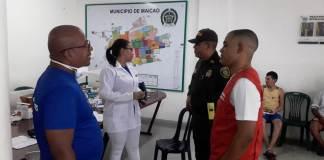 40 personas, en su mayoría de nacionalidad venezolana, quienes se encuentran bajo condiciones de hacinamiento, recibieron atención médica