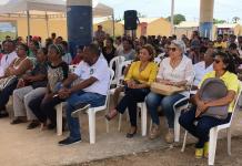 Aspecto de la socialización del proyecto de construcción del mega colegio en la urbanización Altos de la Prosperidad.