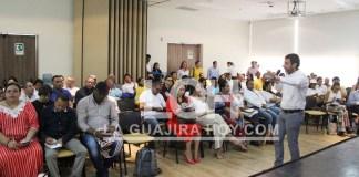 Aspecto del foro sobre medio ambiente que se realizó en el municipio de Albania.