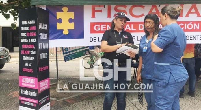Funcionarios de la Fiscalía realizó en San Juan del Cesar la primera Feria de Servicios dentro de la estrategia de 'Plan de Priorización 500 municipios 2019'.