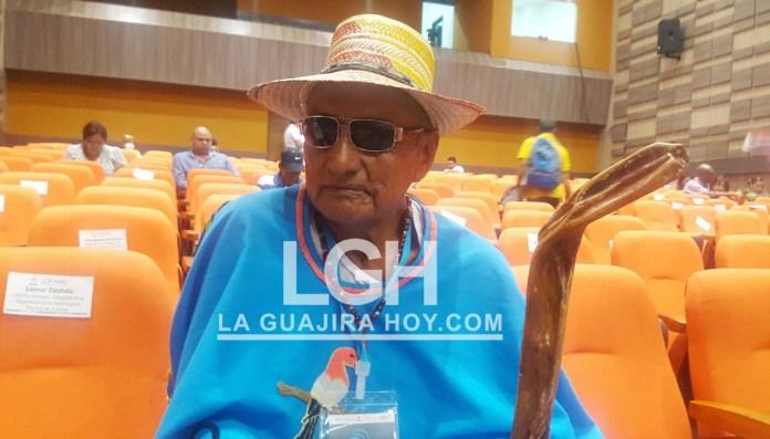 Sergio Cohen, palabrero invidente de la comunidad indígena Wayúu.