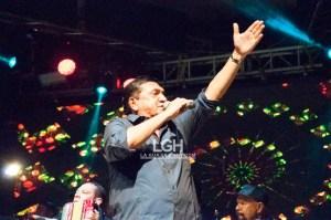 El cantante de música de Acordeón Tomas Alfonso Poncho Zuleta, como siempre realizó una presentación que cautivó a los presentes.