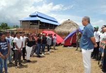 El gobernador encargado de La Guajira, Jhon Eduardo Fuentes Medina, fue a saludar a sus paisanos, quienes harán parte del Campamento Nacional 2019.